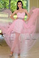 Alyce Paris 6000 Sequin Tulle and Feather Evening Dress image