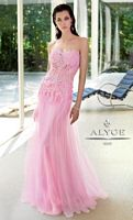 Alyce 6003 Paris Tulle and Lace Sheer Waist Formal Dress image