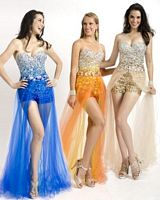 Party Time 6004 High Low Romper Dress image