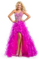 Party Time 6007 One Shoulder High Low Organza Dress image