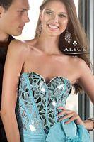 Alyce Paris 6010 High Low Ruffle Taffeta Formal Dress image