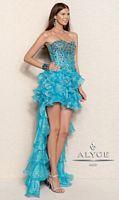 Alyce Paris 6011 Leopard Print Lurex Organza Evening Dress image