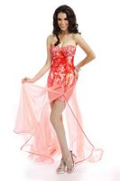 Party Time Formals 6011 High Low Dress image