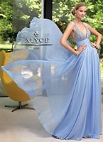 Alyce 6018 Paris Beaded Halter Special Occasion Dress image