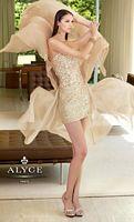 Alyce Paris 6025 Sequin Iridescent Long over Short Evening Dress image
