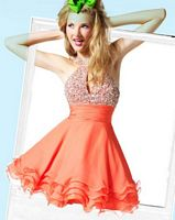 BabyDoll by MacDuggal Gem Choker Keyhole Short Prom Dress 6025B image