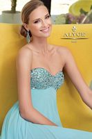 Alyce Paris 6028 Sequin Empire Evening Dress image