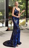 Alyce 6036 Paris One Shoulder Sequin Formal Dress image