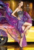 Alyce Paris 6038 Iridescent Organza High Low Evening Dress image