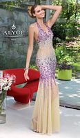 Alyce Paris 6047 Beaded Tulle Mermaid Evening Dress image