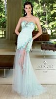 Alyce Paris 6050 Tulle Lace and Sequin Sexy Mermaid Gown image