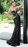 Alyce Paris 6052 Sequin Evening Dress with Bra Back image
