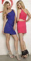 Nicole Bakti 6055S One Shoulder Cutout Cocktail Dress image