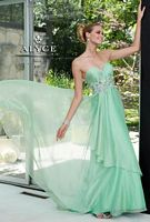 Alyce Paris 6084 Silky Chiffon Layered Evening Dress image