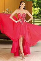 Alyce Paris 6088 Silky Chiffon High Low Evening Dress image