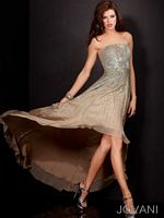Jovani 609 High Low Evening Gown image