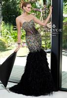 Alyce Paris 6095 Tulle and Feather Mermaid Gown image