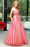 Alyce 6101 Paris Tulle Lace Evening Dress image