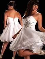 Cassandra Stone II Plus Size Sleek Short Prom Dress 61065K image