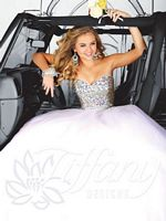 Tiffany 61118 Chunky Stone Sparkle Tulle Ball Gown image