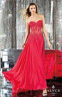 Alyce Paris 6135 Illusion Corset Long Dress image