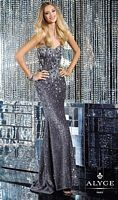 Alyce 6153 Fitted Gown with Stones image