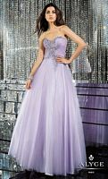 Alyce 6162 Tulle Ball Gown with Lace-Up Back image