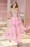 Alyce 6180 Organza Ruffle Long Party Dress image
