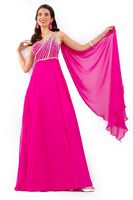 Party Time 6186 One Shoulder Empire Chiffon Gown image