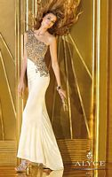 Alyce 6190 One Shoulder Jersey Gown image