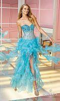 Alyce Paris 6191 Trendy Organza Ruffle Hi-Lo Party Dress image