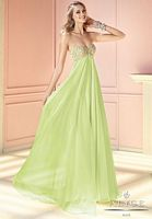 Alyce 6196 Empire Long Dress with Colorful Beading image