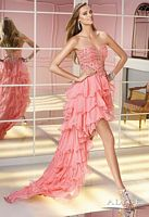 Alyce Paris 6199 High Low Layered Dress image