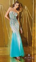 Alyce 6203 Tulle and Lace Mermaid Dress image