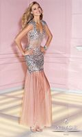 Alyce 6210 Cap Sleeve Sequin Tulle Gown image