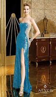 Alyce 6211 Turquoise Sequin Long Dress image