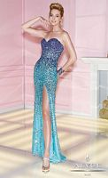 Alyce Paris 6213 Turquoise Sequin Formal Dress image
