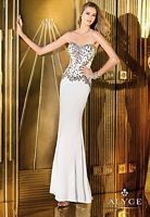 Alyce Paris 6224 Sheer Bodice Formal Dress image