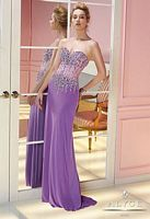 Alyce Paris 6232 Sheer Bustier Jersey Formal Dress image