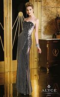 Alyce 6244 Sequin Gown with Sheer Panels image