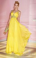 Alyce Paris 6249 V Neck X Back Chiffon Evening Dress image