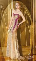 Alyce 6263 Sequin Gown with Sheer Bottom image