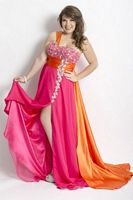 Party Time 6263 Plus Size Chiffon Evening Dress image