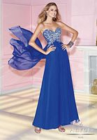 Alyce 6266 Chiffon Tie Back Formal Dress image