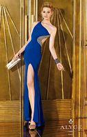 Alyce Paris 6267 One Shoulder Sleek Jersey Gown image