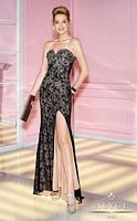 Alyce Paris 6270 Beaded Lace A-Line Evening Dress image