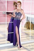 Alyce 6281 Beaded Bustier Special Occasion Dress image