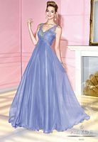 Size 2 Periwinkle Alyce Paris 6284 Sleeveless Tulle Ball Gown image