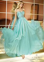 Alyce Paris 6285 Beaded Bodice Flowy Chiffon Evening Dress image