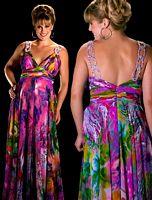 Cassandra Stone II Figure Flattering Plus Size Prom Dress 6285K image